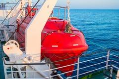 Ναυαγοσωστική λέμβος σε ένα σκάφος Στοκ Εικόνα