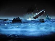 ναυαγός τιτανικός διανυσματική απεικόνιση