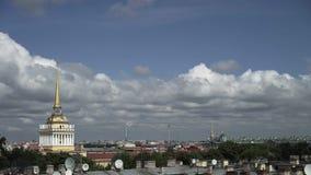 Ναυαρχείο στην Άγιος-Πετρούπολη απόθεμα βίντεο