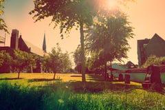 Ναυπηγείο εκκλησιών με την ηλιοφάνεια Στοκ φωτογραφίες με δικαίωμα ελεύθερης χρήσης
