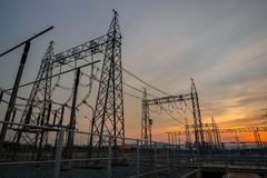 Ναυπηγείο διακοπτών στις εγκαταστάσεις παραγωγής ενέργειας αερίου καυσίμων Στοκ Εικόνες