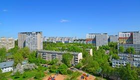 Ναυπηγείο με τις παιδικές χαρές σε 11 περιοχές Zelenograd, Μόσχα Στοκ Φωτογραφίες