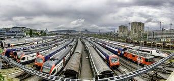 Ναυπηγείο ραγών στη Ζυρίχη Ελβετία Στοκ Φωτογραφία