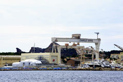 Ναυπηγείο στο Λα Ciotat κοντά στη Μασσαλία Στοκ εικόνα με δικαίωμα ελεύθερης χρήσης