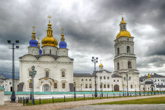 Ναυπηγείο Tobolsk Κρεμλίνο διατάξεων θέσεων και τηγάνι καθεδρικών ναών Sophia-υπόθεσης Στοκ φωτογραφίες με δικαίωμα ελεύθερης χρήσης