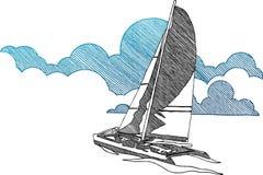 ναυσιπλοΐα βαρκών απεικόνιση αποθεμάτων