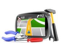 Ναυσιπλοΐα ΠΣΤ με τα εργαλεία εργασίας απεικόνιση αποθεμάτων