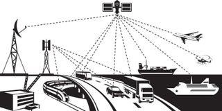Ναυσιπλοΐα και καταδίωξη οχημάτων ελεύθερη απεικόνιση δικαιώματος