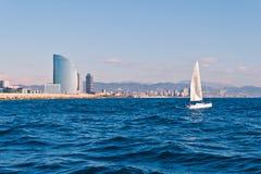 Ναυσιπλοΐα στη Βαρκελώνη Στοκ Εικόνα