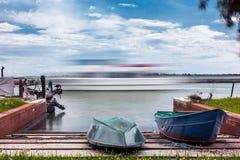 Ναυσιπλοΐα στο νησί Burano Στοκ Φωτογραφία