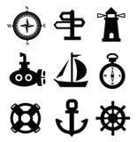 Ναυτικά εικονίδια Στοκ εικόνα με δικαίωμα ελεύθερης χρήσης