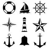 Ναυτικά εικονίδια Στοκ φωτογραφίες με δικαίωμα ελεύθερης χρήσης