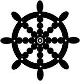 Ναυτικά κινούμενα σχέδια διανυσματικό Clipart τιμονιών Στοκ Εικόνες