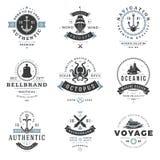 Ναυτικά πρότυπα λογότυπων καθορισμένα Στοκ φωτογραφία με δικαίωμα ελεύθερης χρήσης