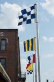 Ναυτικές σημαίες Στοκ Φωτογραφία