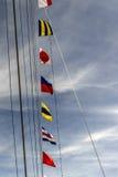 Ναυτικές σημαίες Στοκ φωτογραφία με δικαίωμα ελεύθερης χρήσης