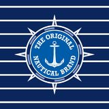 Ναυτική εκλεκτής ποιότητας ετικέτα με το άνευ ραφής υπόβαθρο σχεδίων Ιδανικό για τα σχέδια συσκευασίας Στοκ εικόνα με δικαίωμα ελεύθερης χρήσης
