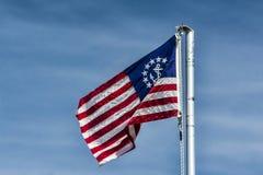 Ναυτική σημαία στοκ φωτογραφία με δικαίωμα ελεύθερης χρήσης