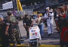 Ναυτικοί που επιστρέφουν τη 'Οικία' Στοκ Εικόνες