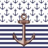 Ναυτικός ή θαλάσσιος το σχέδιο ελεύθερη απεικόνιση δικαιώματος
