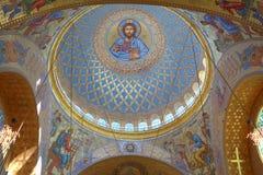 Ναυτικός καθεδρικός ναός Άγιου Βασίλη σε Kronstadt, Ρωσία Στοκ εικόνες με δικαίωμα ελεύθερης χρήσης