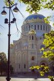Ναυτικός καθεδρικός ναός του Άγιου Βασίλη σε Kronstadt Στοκ φωτογραφία με δικαίωμα ελεύθερης χρήσης