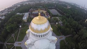 Ναυτικός καθεδρικός ναός Kronstadt απόθεμα βίντεο