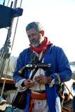 Ναυτικός που διακοσμείται με το αρχαίο ένδυμα Στοκ Εικόνες