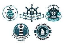 Ναυτικός τα εμβλήματα ή τα διακριτικά Στοκ φωτογραφία με δικαίωμα ελεύθερης χρήσης