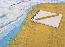 Ναυτικός χάρτης Στοκ Φωτογραφίες