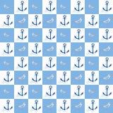 Ναυτικό άνευ ραφής σχέδιο Στοκ Φωτογραφία