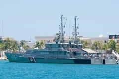 Ναυτικό ακτοφυλακών στην ακτή της Isla Mujeres, Μεξικό Στοκ εικόνες με δικαίωμα ελεύθερης χρήσης