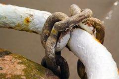 ναυτικό αλυσίδων σκουριασμένο Στοκ φωτογραφίες με δικαίωμα ελεύθερης χρήσης