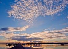 ναυτικό θέμα ηλιοβασιλέματος Στοκ Εικόνες