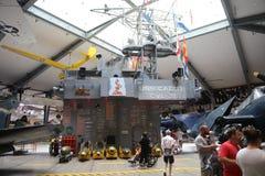 Ναυτικό μουσείο αεροπορίας εκθεμάτων USS Cabot στοκ φωτογραφία