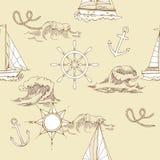 ναυτικό πρότυπο άνευ ραφής Στοκ φωτογραφίες με δικαίωμα ελεύθερης χρήσης