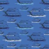 ναυτικό πρότυπο άνευ ραφής Στοκ Φωτογραφία