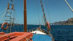 Ναυτικό σκάφος - ένας sailboat ιστός - τηλεοπτικός υψηλός καθορισμός απόθεμα βίντεο