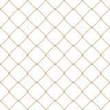 Ναυτικό σχέδιο διχτυών ψαρέματος σχοινιών άνευ ραφής χρυσό στο άσπρο υπόβαθρο Στοκ Φωτογραφίες