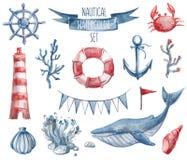 Ναυτικό σύνολο watercolor