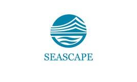 Ναυτικό Logotype Διανυσματικό πρότυπο λογότυπων διάνυσμα εικόνας απεικόνισης στοιχείων σχεδίου Seascape Στοκ Φωτογραφία