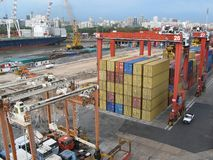 ναυτιλία λιμένων φορτίου Στοκ Εικόνες