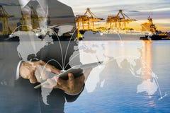 Ναυτιλία στην παγκόσμια επιχειρησιακή αύξηση διανομής στοκ φωτογραφία με δικαίωμα ελεύθερης χρήσης