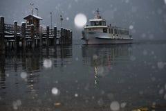 Ναυτιλία στο χιόνι στοκ εικόνες με δικαίωμα ελεύθερης χρήσης