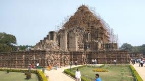 Ναός ήλιων Konark - αρχιτεκτονική ομορφιά της Ινδίας στοκ εικόνα