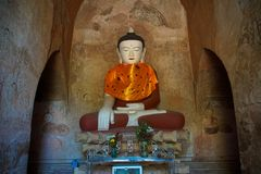 ναός αγαλμάτων του Βούδα Στοκ Εικόνα