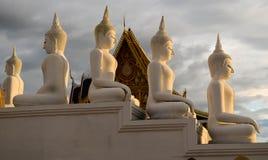 ναός αγαλμάτων του Βούδα Στοκ Φωτογραφία