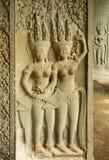 ναός αναγλύφου apsaras angkor bas wat Στοκ εικόνες με δικαίωμα ελεύθερης χρήσης