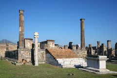 ναός απόλλωνα Πομπηία Στοκ φωτογραφία με δικαίωμα ελεύθερης χρήσης
