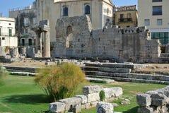 Ναός απόλλωνα - των Συρακουσών, Σικελία (Ιταλία) Στοκ Εικόνες